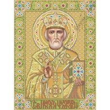 ИК3-0256 Святой Николай Чудотворец в короне. Схема для вышивки бисером Феникс
