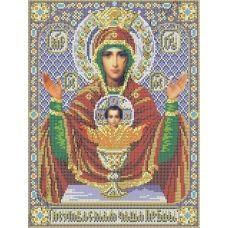 ИК3-0267 Икона Божией Матери Неупиваемая чаша (фиолетовая). Схема для вышивки бисером Феникс