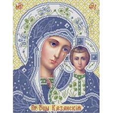 ИК3-0266 Казанская икона Божией матери (гжель). Схема для вышивки бисером Феникс