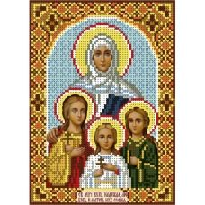 А5-И-049 Вера, Надежда, Любовь и мать их София. Схема для вышивки бисером ТМ Acorns
