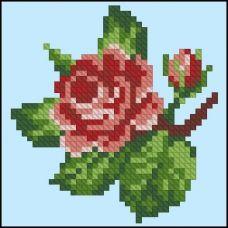 ФЧК-6011 Ветка розы. Схема для вышивки бисером Феникс