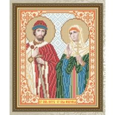 VIA-4113 Св. Князь Петр и Св. Княжна Феврония. Схема для вышивки бисером. АртСоло