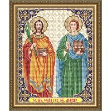 VIA-4152 Св.Бессеребренники Косьма и Дамиан. Схема для вышивки бисером. АртСоло