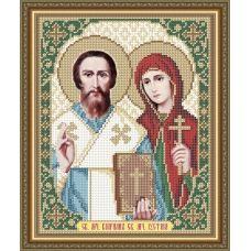 VIA-4176 Святые Мученики Киприан и Иустина. Схема для вышивки бисером. АртСоло