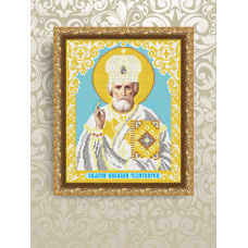 VIА-4203 Святой Николай Чудотворец. Схема для вышивки бисером. АртСоло