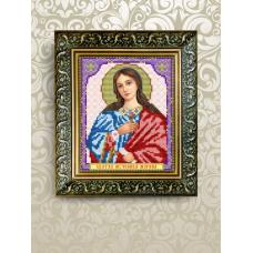 VIA-5075 Св. Марина (Маргарита). Схема для вышивки бисером. АртСоло