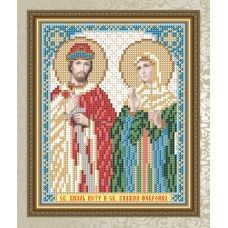 VIA-5113 Святой Князь Петр и Святая Княжна Феврония. Схема для вышивки бисером. АртСоло