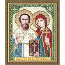 VIA-5176 Святые Мученики Киприан и Иустина. Схема для вышивки бисером. АртСоло