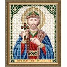 VIA-5199 Святой Великий Князь Георгий (Юрий). Схема для вышивки бисером. АртСоло