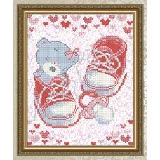 VKA-4045 С рождением девочки. Схема для вышивки бисером. АртСоло