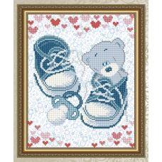 VKA-4046 С рождением мальчика. Схема для вышивки бисером. АртСоло