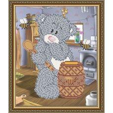 VКA-4410 Мишка с медом. Схема для вышивки бисером. АртСоло