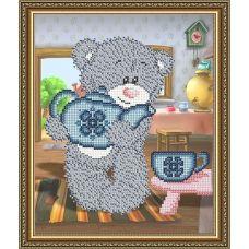 VКA-4411 Мишка с чайником. Схема для вышивки бисером. АртСоло