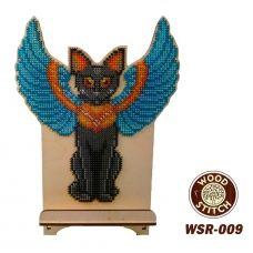 WSR-009 Богиня Баст. Подставка под телефон. ТМ WoodStitch