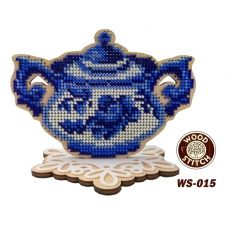 WS-015 Серия Гжель.Сахарница. Набор для вышивки WoodStitch