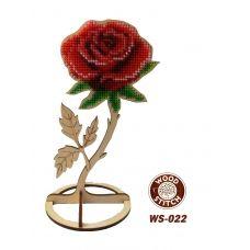 WS-022 Роза на подставке. Набор для вышивки WoodStitch