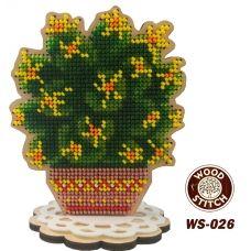 WS-026 Кактус. Набор для вышивки WoodStitch
