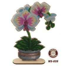 WS-039 Нежная орхидея. Набор для вышивки WoodStitch