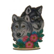 WS-041 Волчья пара. Набор для вышивки WoodStitch