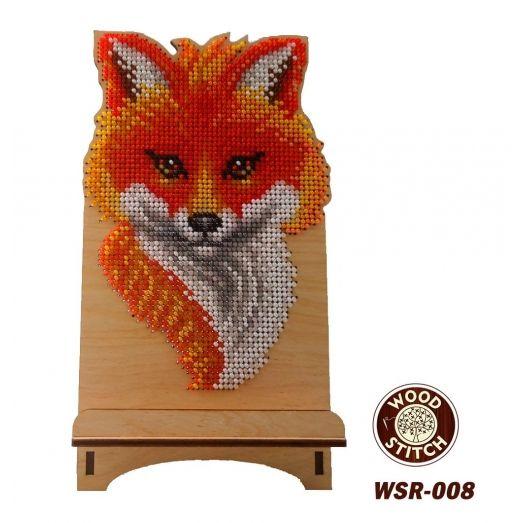 WSR-008 Лисичка. Подставка под телефон. ТМ WoodStitch