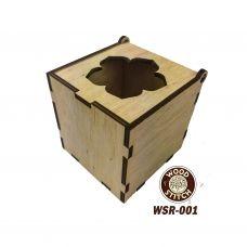 WSR-001 Деревянная мусорничка для обрезков нитей Цветок