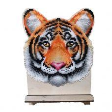 WSR-014 Тигр. Подставка под телефон расширенная. ТМ WoodStitch