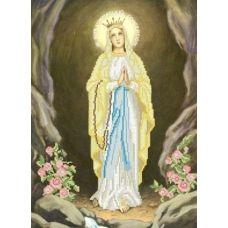 КРВ-20 Икона Чудотворной Матери Божей с Люрда. Схема для вышивки бисером ТМ Княгиня Ольга