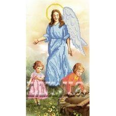 КРВ-13 Ангел с детьми. Схема для вышивки бисером ТМ Княгиня Ольга