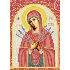 КРВ-24 Богородица Семистрельная. Схема для вышивки бисером ТМ Княгиня Ольга