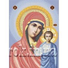 КРВ-16 Пресвятая Богородица Казанская. Схема для вышивки бисером ТМ Княгиня Ольга
