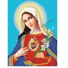 КРВ-07 Пресвятая Дева Мария. Схема для вышивки бисером ТМ Княгиня Ольга