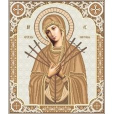 ВКР-20 Богородица Семистрельная (сепия). Схема для вышивки бисером. Княгиня Ольга