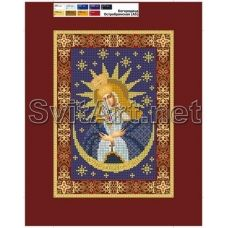205 (А5) ХОЛСТ. Богородица. Схема для вышивки бисером СвитАрт