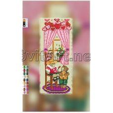 FV-022(15*30) ХОЛСТ. Мишки. Схема для вышивки бисером. Свит Арт